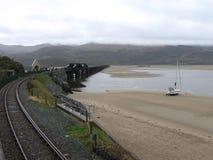 Мост Barmouth железнодорожный Стоковое Изображение RF