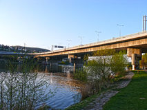 Мост Barrandov, Прага, чехия Стоковое фото RF