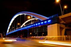 Мост Basarab в ноче Стоковое Фото