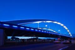 Мост Basarab в ноче Стоковая Фотография