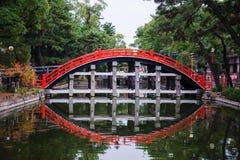 Мост bashi Taiko, мост для того чтобы войти висок Стоковая Фотография RF