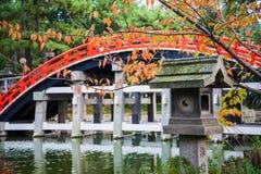Мост bashi Taiko, мост для того чтобы войти висок Стоковые Фото