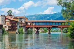 Мост Bassano del Граппы Alpini Стоковая Фотография