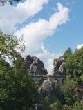 Мост Bastei, Saxon Швейцария Стоковые Изображения