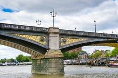 Мост Battersea, Лондон, Великобритания Стоковые Изображения RF