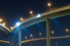 Мост Bhumibol в Бангкоке Стоковое Фото