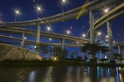 Мост Bhumibol в Таиланде Стоковая Фотография