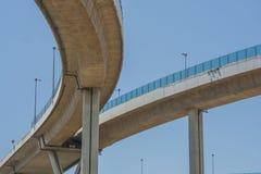 Мост Bhumibol или мост промышленных колец конкретное шоссе Стоковые Изображения RF