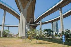 Мост Bhumibol или мост промышленных колец Стоковая Фотография