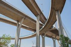 Мост Bhumibol или мост промышленных колец Стоковое фото RF