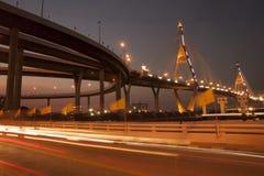Мост Bhumibol промышленный мост кольца или мега мост Стоковые Фотографии RF