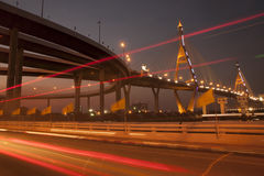 Мост Bhumibol промышленный мост кольца или мега мост Стоковые Изображения