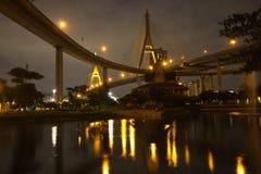 Мост Bhumibol Таиланда Стоковое фото RF
