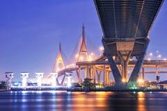 Мост Bhumibol Стоковые Изображения RF