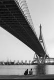Мост Bhumibol Стоковое Изображение RF