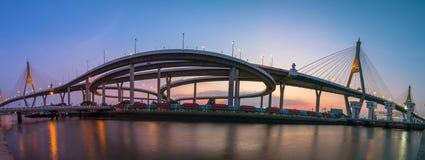 Мост Bhumibol Стоковая Фотография RF