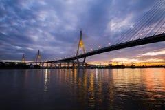 Мост Bhumibol стоковые фотографии rf