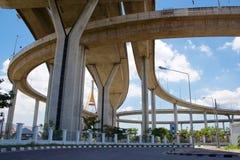 Мост Bhumiphol Стоковая Фотография
