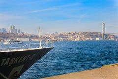 Мост Bosphorus грузит Uskudar Стамбул Стоковые Фото