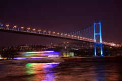 мост bosporus istanbul Стоковое Изображение