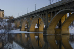 мост broadway saskatoon Стоковое Изображение