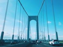 Мост Bronx†«Whitestone в Нью-Йорке стоковые изображения rf