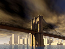 мост brooklyn New York Стоковое Фото