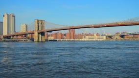 мост brooklyn New York nyc manhattan соединенные положения видеоматериал