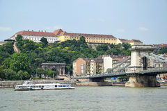 мост budapest цепная Венгрия Стоковые Фото
