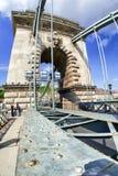 мост budapest цепная Венгрия Стоковое Изображение RF