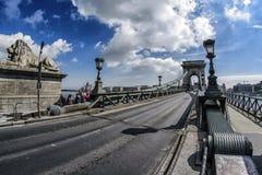 мост budapest цепная Венгрия Стоковые Фотографии RF