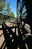 Мост Bundaberg на реке a Burnett стоковые фотографии rf