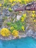 Мост Bungy Kawarau (AJHackett Bungy), Новая Зеландия Стоковое Фото