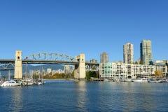 Мост Burrard, Ванкувер, ДО РОЖДЕСТВА ХРИСТОВА, Канада Стоковое Изображение