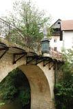Мост Capuchin в Skofja Loka Стоковые Фотографии RF
