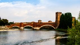 Мост Castelvecchio в Вероне Стоковое фото RF