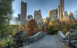 Мост Central Park Gapstow, Нью-Йорк Стоковая Фотография