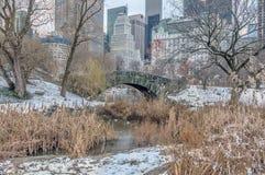 Мост Central Park Gapstow, New York City Стоковые Изображения