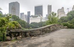 Мост Central Park Gapstow, New York City Стоковое Изображение