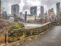 Мост Central Park Gapstow, New York City Стоковое Фото
