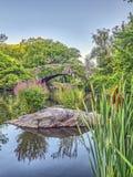 Мост Central Park Gapstow, New York City Стоковые Фотографии RF
