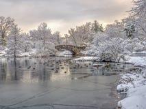 Мост Central Park Gapstow, New York City Стоковое Изображение RF