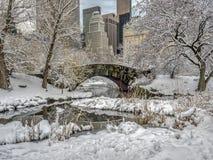 Мост Central Park Gapstow, New York City Стоковая Фотография