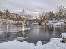Мост Central Park Gapstow, New York City Стоковые Фото