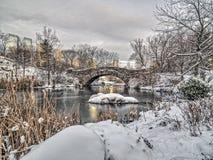 Мост Central Park Gapstow, New York City Стоковая Фотография RF