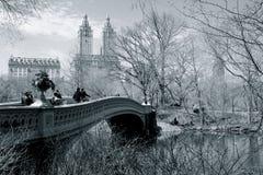 Мост Central Park NYC смычка Стоковые Изображения RF