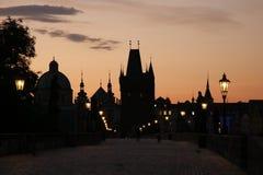 Мост Charles в Прага Стоковые Фотографии RF