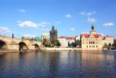 Мост Charles в Прага Стоковые Изображения RF