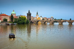 Мост Charles, Прага, Чешская Республика Стоковое Фото