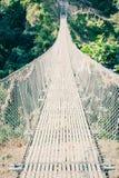 Мост Chomrong, на треке базового лагеря Annapurna, Непал стоковое изображение rf